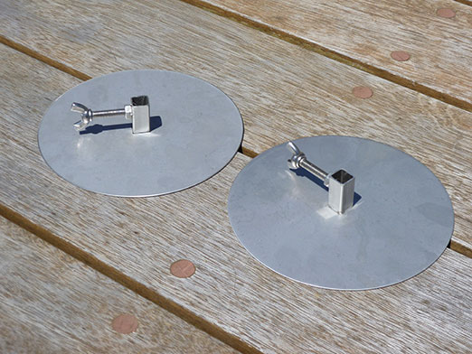 The Wedge Stainless Steel Gyro Discs for Rotisserie